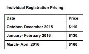 Individual Registration Pricing