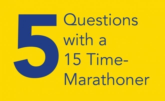 5 Questions with a 15 Time-Marathoner