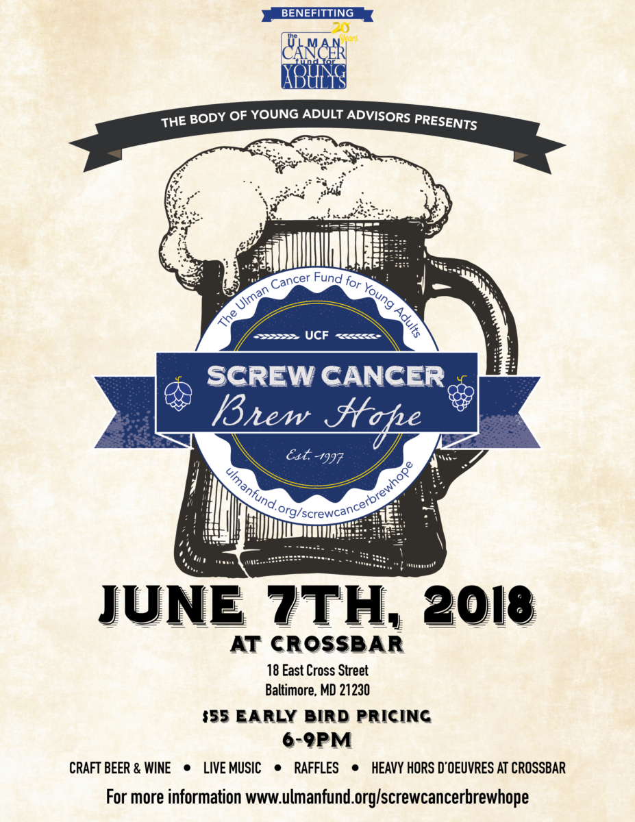 Screw Cancer Brew Hope - Baltimore @ Crossbar der BierGarten | Baltimore | Maryland | United States